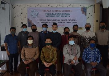 Rapat dan Diskusi Dosen Fakultas Ushuluddin: Optimalisasi Perkuliahan di Era Pandemi
