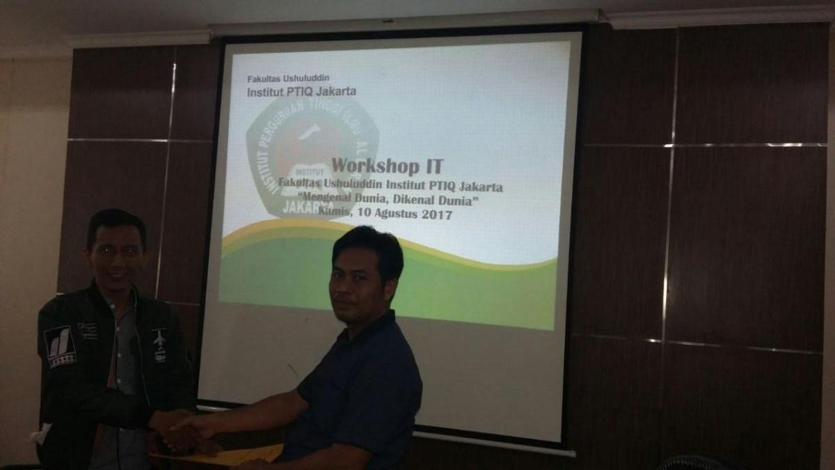 Workshop IT Fakultas Ushuluddin Institut OTIQ Jakarta